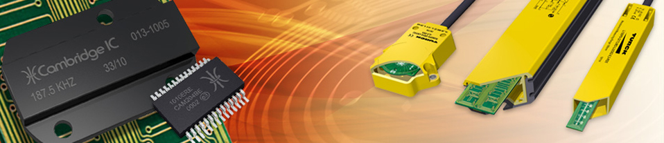 CambridgeIC banner illustrating products and non-contact sensor applications