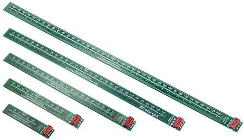 25mm, 50mm, 100mm, 150mm and 200mm Type 1 linear sensors
